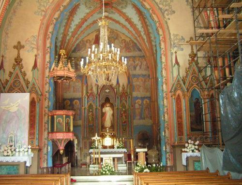 Renowacja nawy kościoła 2018-19r